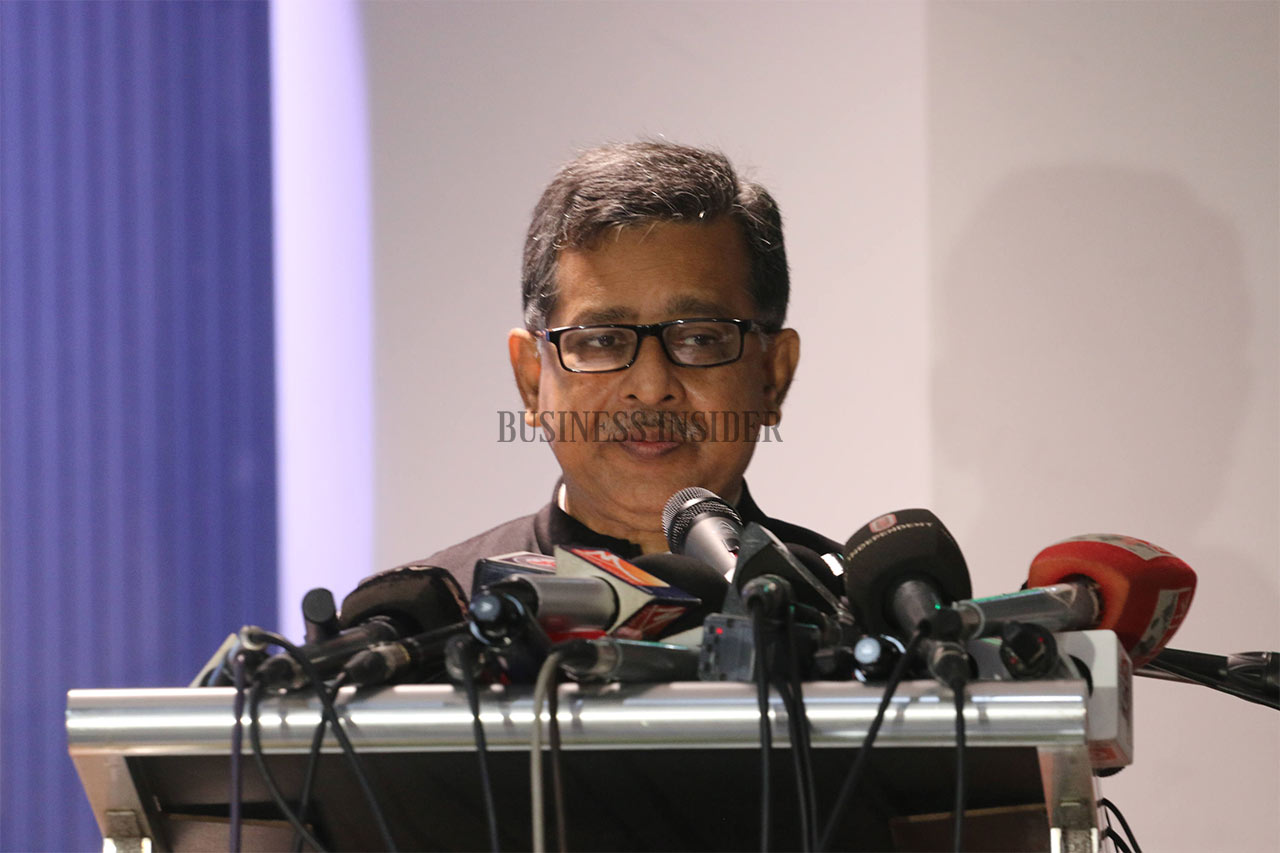 Minister of Civil Aviation and Tourism Md Mahbub Ali gives speech