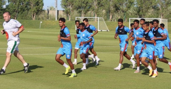 Booters face stern test against Oman