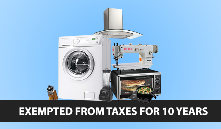 Home appliance industry eyes boom with 10-year tax holiday