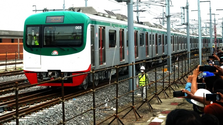 Metro rail wheels roll for first time