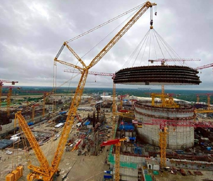 Reactor dome construction at Rooppur NPP power unit No 1 completed