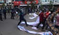 BNP men clash with police