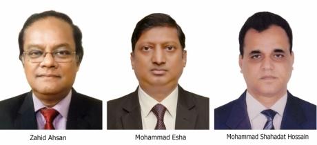 Pubali Bank Ltd gets three new DMDs