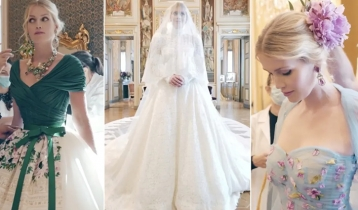 Princess Diana's niece Lady Kitty Spencer marries billionaire Michael Lewis