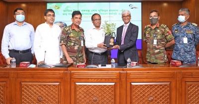 LankaBangla distribute trees at DNCC head office