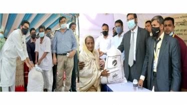 Global Islami Bank distributes food, health protection products