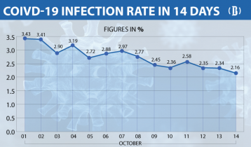 Covid-19: Daily positivity rate declines to 2.16%, 7 more die