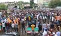 Demonstration at Shahbag protesting communal violence