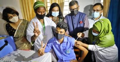 Trial vaccination for school children begins in Manikganj