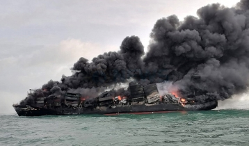 Fire-hit ship sinks off Sri Lanka coast with Bangladesh-bound containers