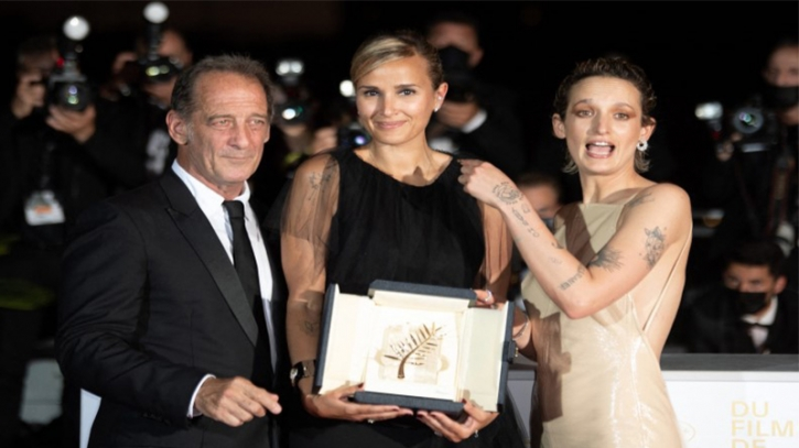'Titane' wins top Cannes honor, 2nd ever for female director