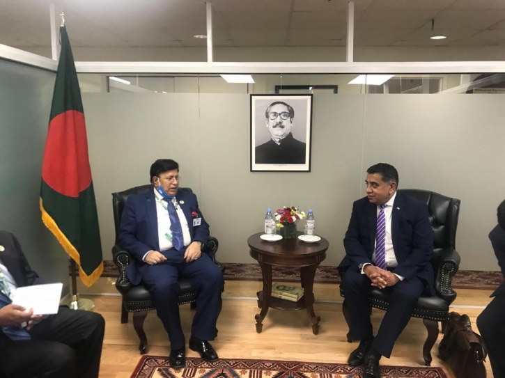 British State Minister for Foreign Affairs calls on Foreign Minister Momen in NY