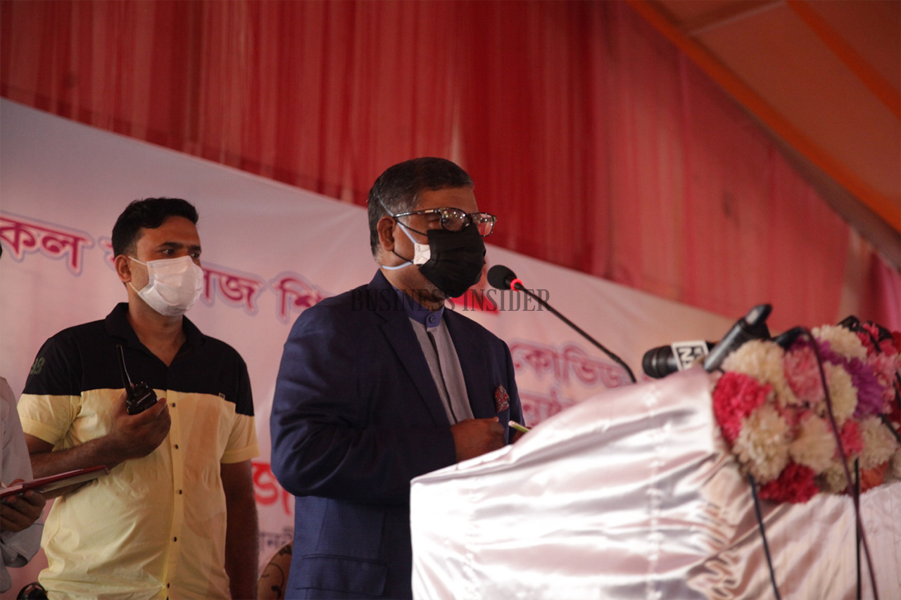 Health Minister Zahid Maleque speaks at  the event