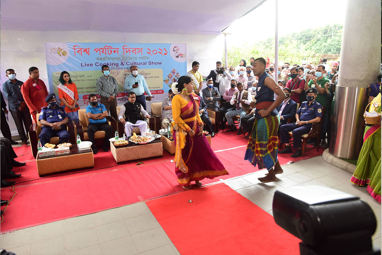 Cultural show being staged
